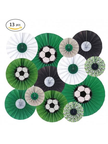 Фант подвеска Футбол набор 13 шт бумага цвет зеленый