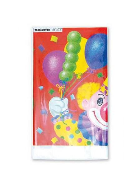 Скатерть полиэтилен Клоун с шарами 140 х 180 см