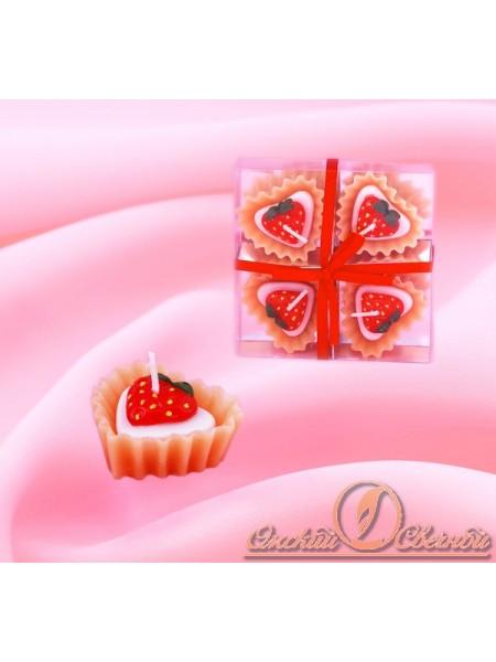 Набор Клубничка конфетка свеча