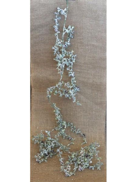 Гирлянда Лиственница с шишками в снегу и блеске 190 см