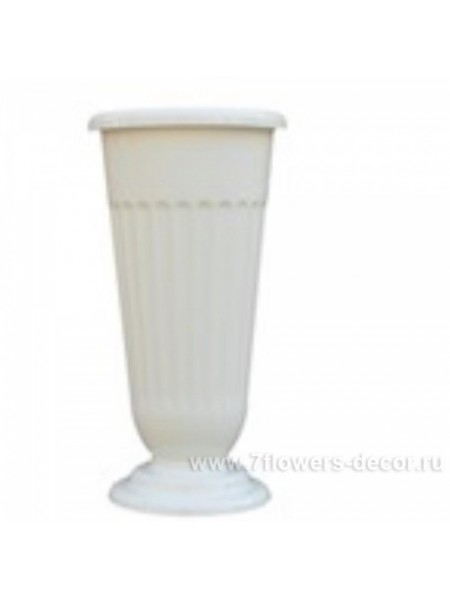 Ваза пластик рифленая большая D20 х H45 см цвет белый