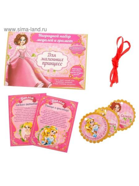 Наградной набор для проведения праздника Маленькая принцесса 21 х 14,5 см