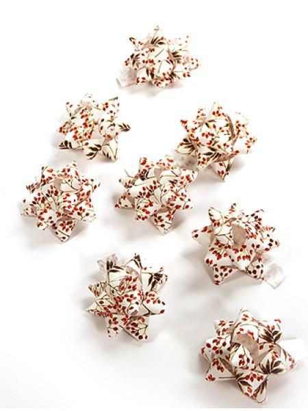 Бант звездочка 231/602 старлайт - снежные ягоды диам 8 см