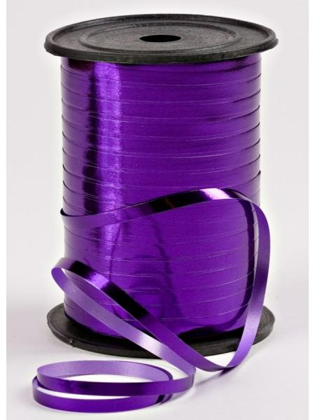 Лента металл 0,5 см х 250 ярд цвет фиолетовый