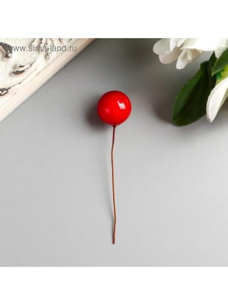 Декор для творчества Ягодка красная набор 40 шт диам 1,4 см