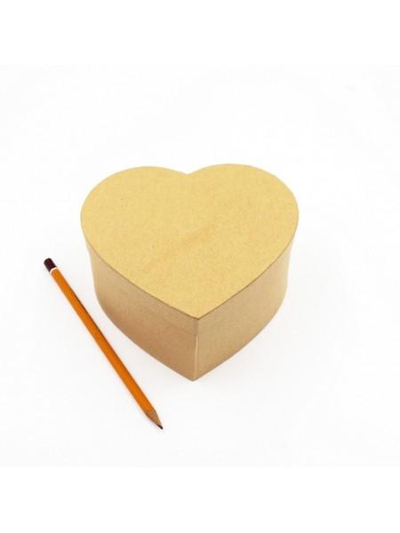 Коробка заготовка Сердце 15 х14,5 х7,5 см