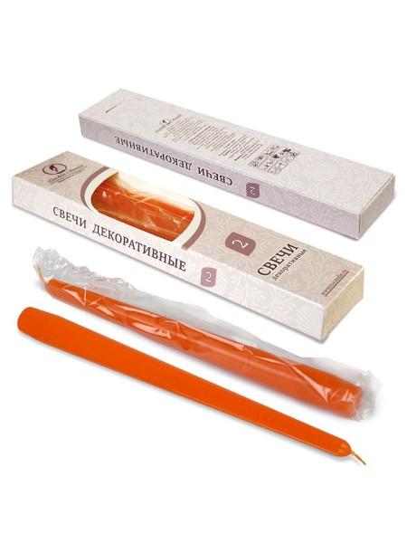 Свеча античная набор 2 шт цвет оранжевый