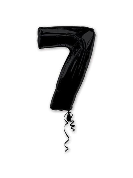 Фольга шар Цифра 7 Black 34