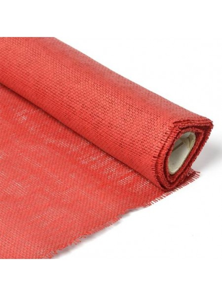 Сетка бумажная 50 см х 4,5 м цвет красный