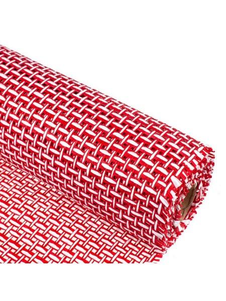 Сетка бумажная 50 см х 4,5 м цвет красный-белый