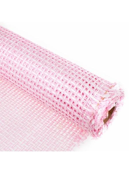 Сетка бумажная 50 см х 4,5 м цвет розовый-белый