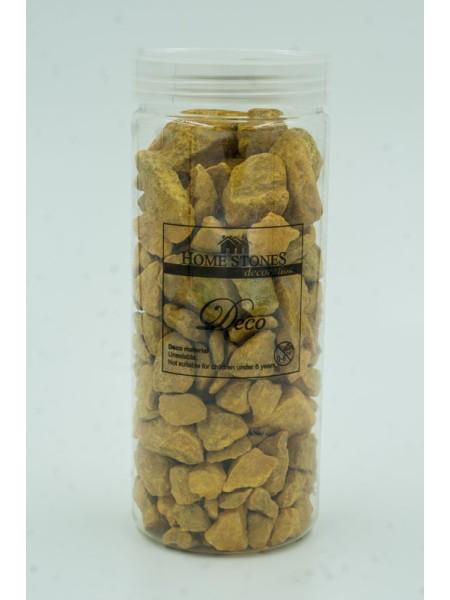 Камни декоративные крупные цвет желтый