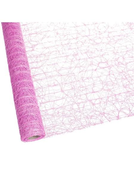 Сизаль премиум перламутр 50 см х 5 м цвет Ярко - розовый PRSW - 06