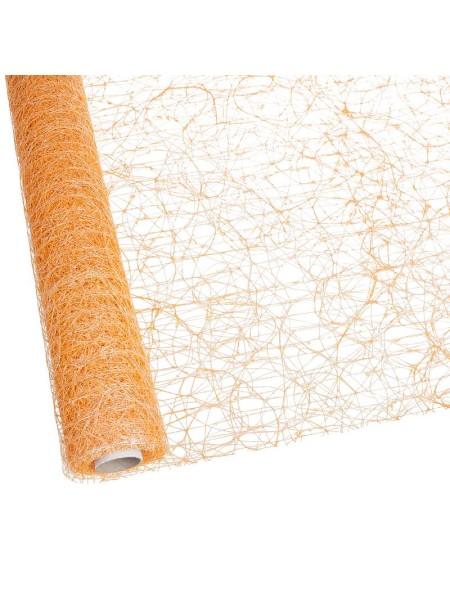 Сизаль премиум перламутр 50 см х 5 м цвет Оранжевый PRSW - 09