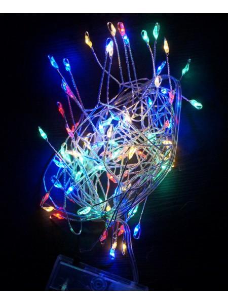 Электрогирлянда бахрома светодиодная 240 см цвет мульти  батарейки