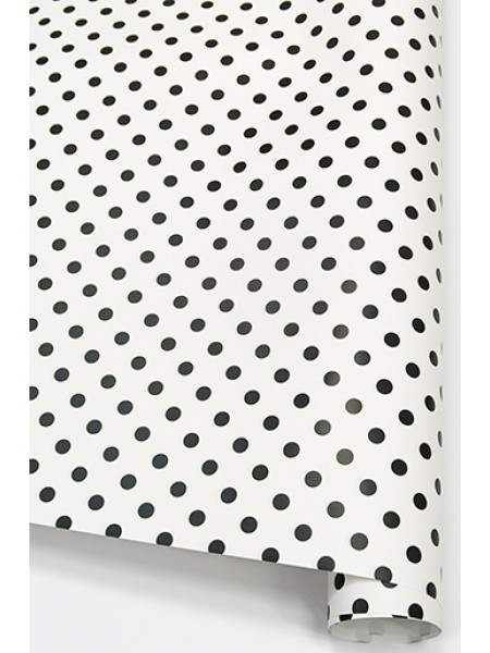 Бумага глянцевая 100/001-05 Горошек черно-белый 68 х 98 см 1/10