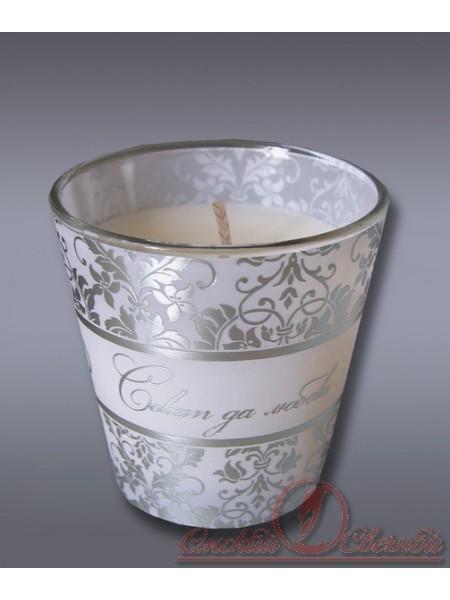 свеча в стекле аром. Совет да любовь Хамелеон жасмин
