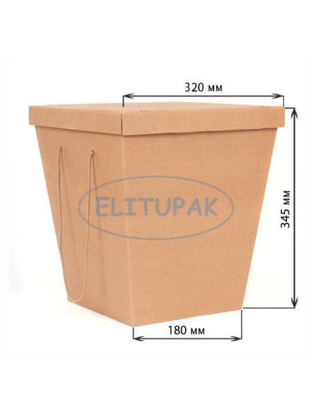 Коробка для букетов с крышкой 180 х 320 х345 мм
