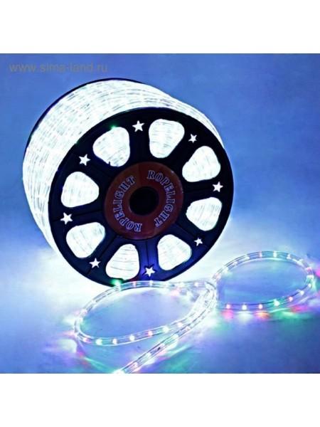 Электрогирлянда Шнур LED 13 мм круглый100 м фиксинг 2W LED/m-36-220V цвет Мульти
