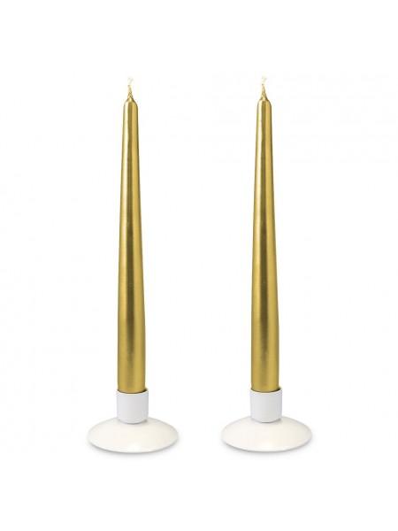 Свеча античная металлик набор 2 шт цвет золотой
