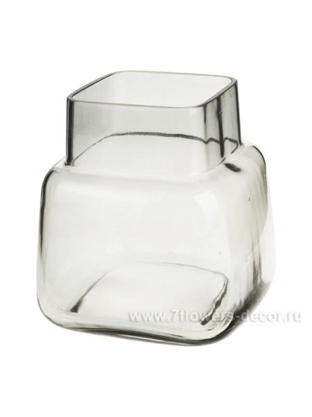 Ваза стекло 12 х 12 см цвет серый Арт. BX20-6S-401