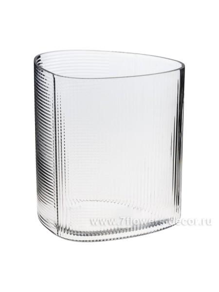 Ваза стекло 17 х 10.5 х Н20 см цвет прозрачный Арт. AT1903197