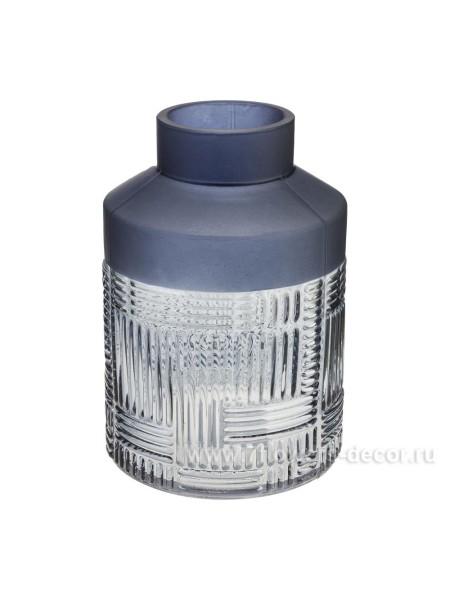 Ваза стекло D7,5 х H19,5 см цвет серый Арт. 1420