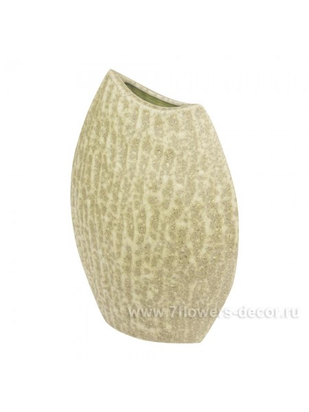 Ваза керамика рельефная 24 х H32 см цвет хаки Арт. 28046-32