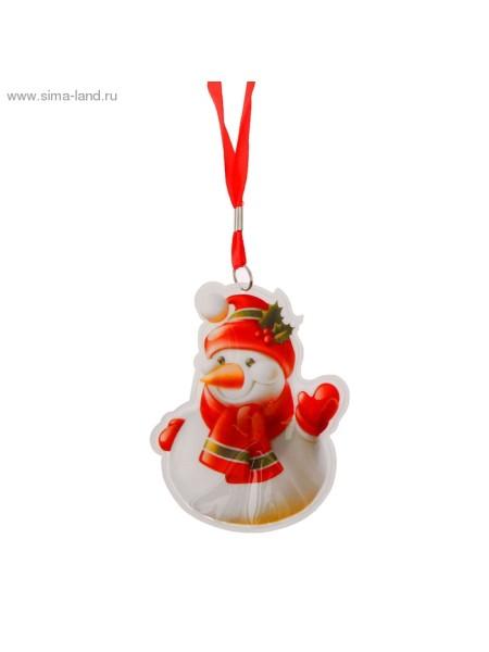 Карнавальный аксессуар подвеска световая Снеговичок