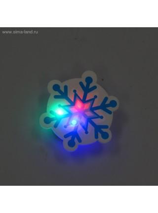 Карнавальный значок световой Снежинка