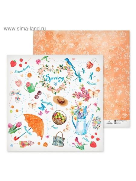 Бумага для скрапбукинга Spring 30,5 х 30,5 см