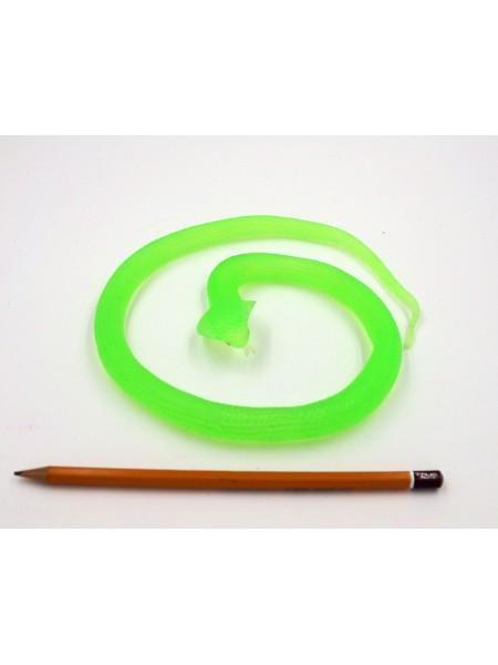 Змея Кобра 60 см резина цвет зеленый