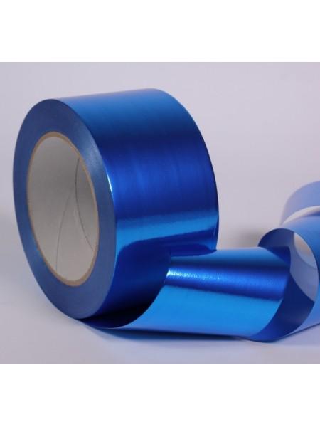 Лента металл 6 см х 50 ярд цвет синий М647
