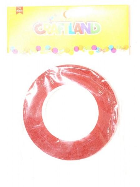 Тейп -лента 1,2 см х 50 м цвет красный