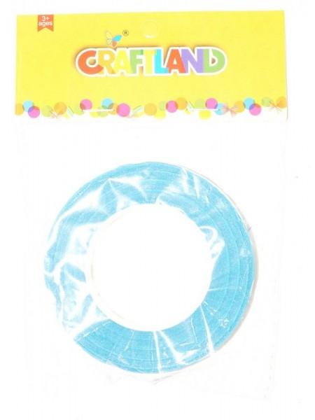Тейп -лента 1,2 см х 50 м цвет голубой