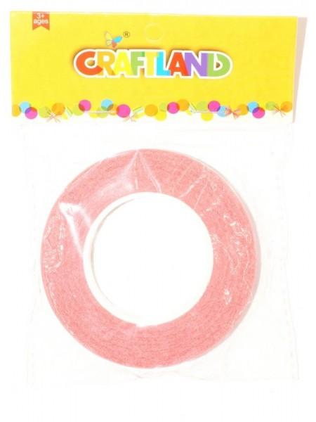 Тейп -лента 1,2 см х 50 м цвет розовый
