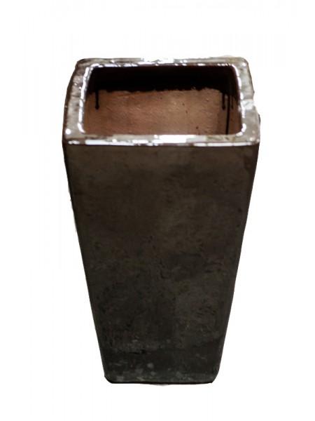 Кашпо керам.6 BRKKU 600 коричневое 33*33*60см