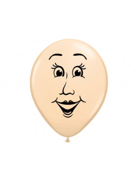 """5""""шар воздушный с рисунком Лицо женское"""
