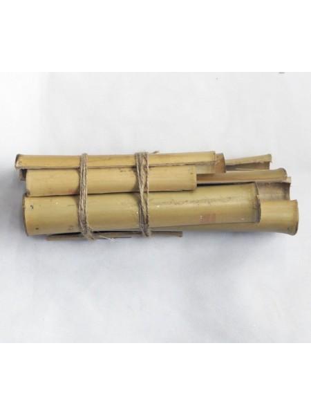 Бамбук ствол в продольном разрезе длина 10-30 см набор 12 шт