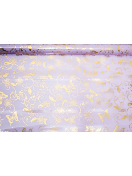 Пленка цветная 8,5 м Батерфляй цвет сиреневый-золото
