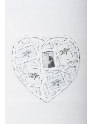 Фоторамка Сердце на 5 фото