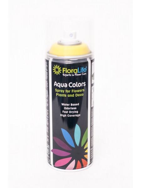 Спрей краска 400мл Floralife Aqua Color Spray цвет ярко-желтый