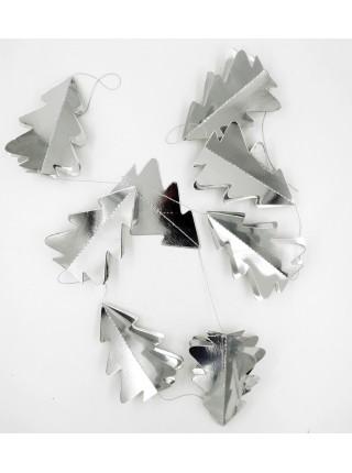 Гирлянда Елочка 3D бумага 180 см цвет серебряный HS-7-23