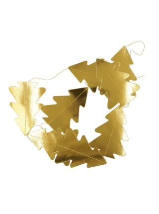 Гирлянда Елочка 3D бумага 180 см цвет золотой HS-7-23