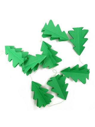 Гирлянда Елочка 3D бумага 180 см цвет зеленый HS-7-23