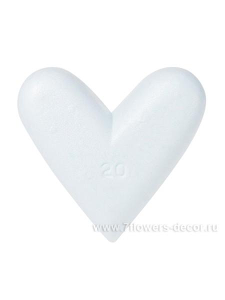Сердце плоское 19 х 20 х 4 см полистирол 27-67110