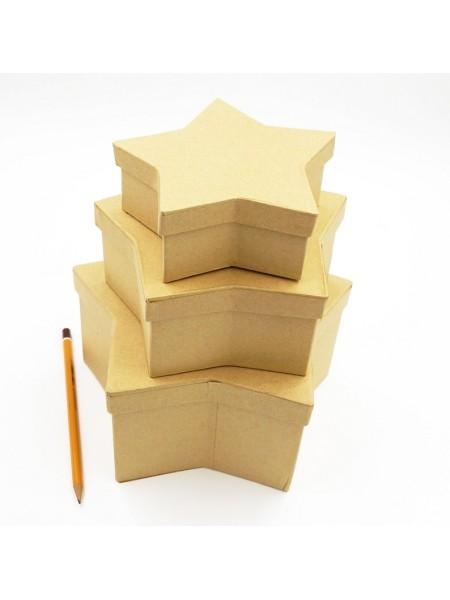 Коробка заготовка Звезда набор из 3х  20*20*10 см