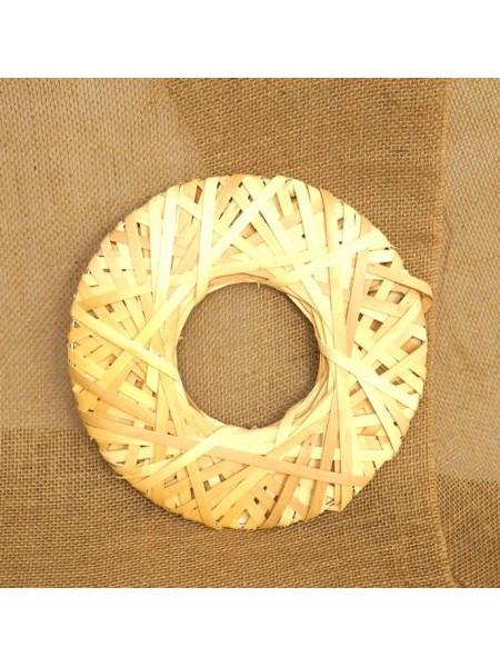 Диск декоративный плетенный из шпона НЛО 30 см