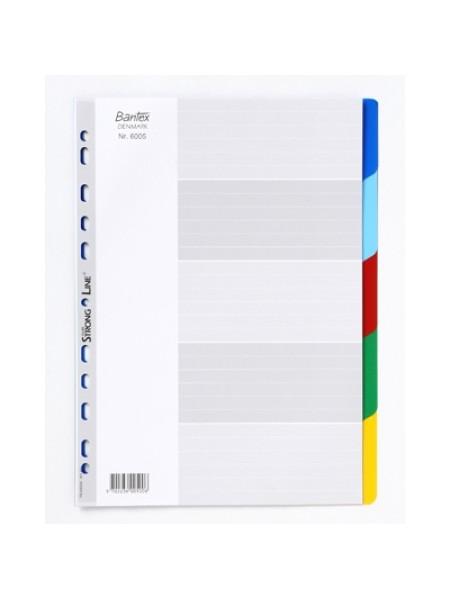 индекс-разделитель 5 цветов пластик ID 6005