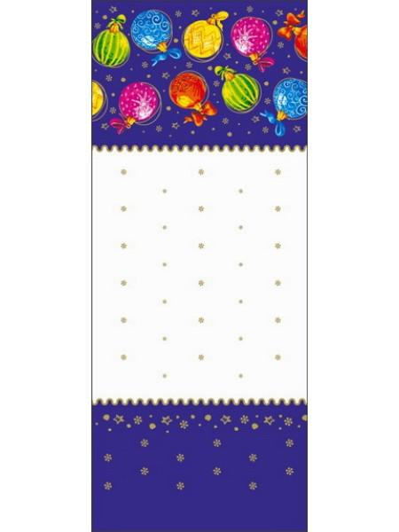 Пакет с центральным швом Разноцветные шары 16+2 х 42 см 60 мкм прозрачный